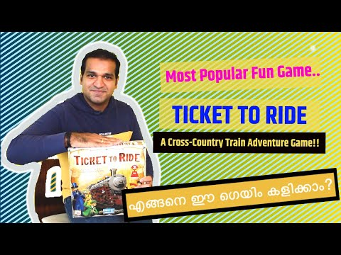 Ticket To Ride - How To Play? മലയാളം | Most Popular Games | Malayalam Board Game |