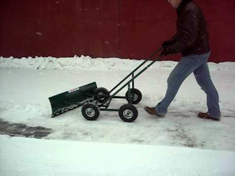 Лопата на колесах для снега своими руками