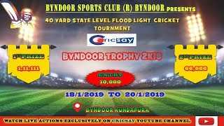 Byndoor Trophy || DAY 2 ||   V7 Sports Vs Friends Bannady ||