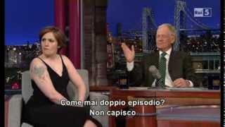 Lena Dunham @ David Letterman Show 06/01/14 SUB ITA