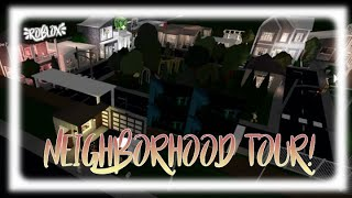 BLOXBURG NEIGHBORHOOD TOUR! | Roblox
