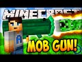 Minecraft MOB GUN (SHOOTING CREEPERS & MORE!) - Minecraft Mods Mod Review