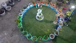 how to make terrace garden/how to make rooftop garden/how to make fountain/ roof garden ideas