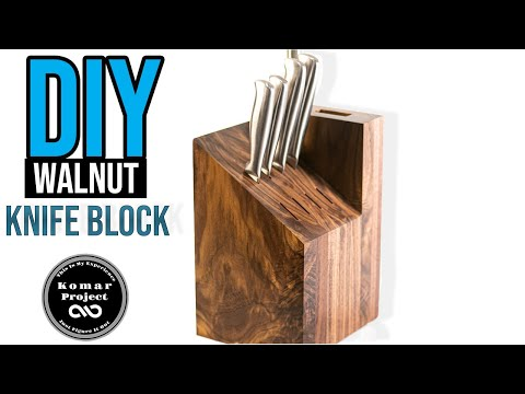 How to Make a Solid Wood Knife Block / and Throw Knives