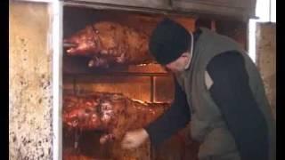 Repeat youtube video PEČENJARA    ,spanferkelgrill, pig roast, pig rotisserie