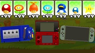 What happens if Nintendo Consoles use Marios Power-Ups? Gamecube Switch 3DS
