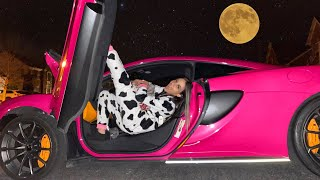 SPENDING THE NIGHT IN MY SUPERCAR!