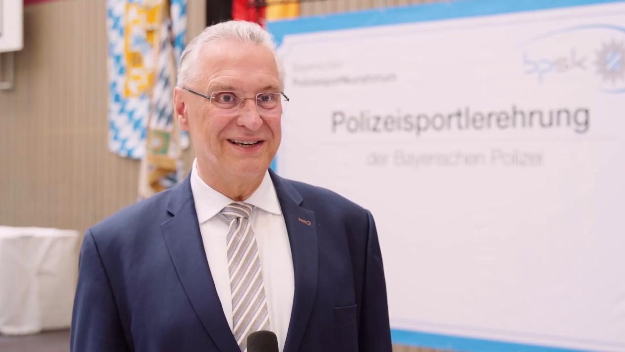 Joachim Herrmann ehrt bayerische Polizeisportlerinnen und -sportler  - Bayern