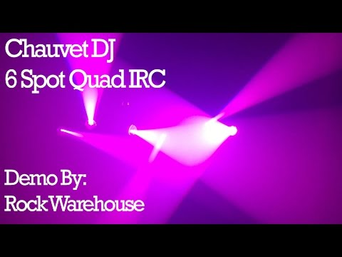 chauvet dj 6 spot quad irc demo by rock warehouse youtube. Black Bedroom Furniture Sets. Home Design Ideas
