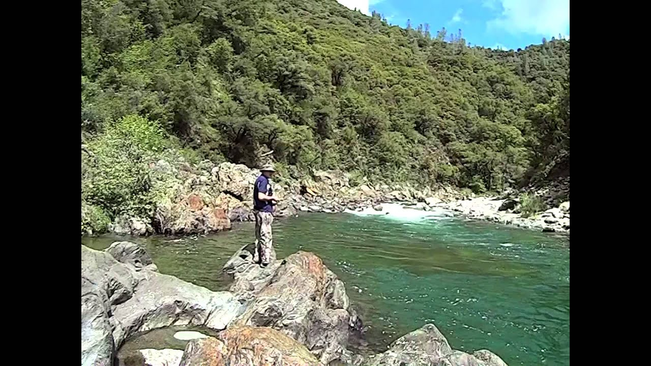 North fork american river backpack fishing trip youtube for American river fishing