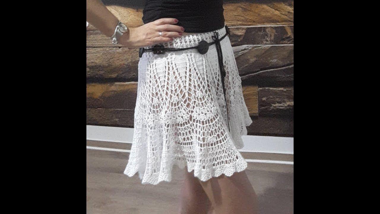 Летняя пляжная юбка крючком. Часть 2. Sommer Häkelrock Teil 2