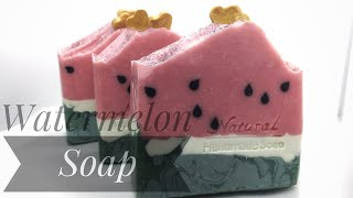 ThingsGalore | Watermelon soap w/FAIL cold process tutorial cp soap seeds dough embeds end of summer