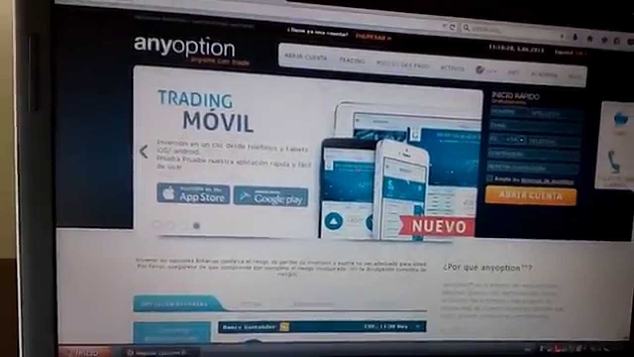 Opción binaria anyoption