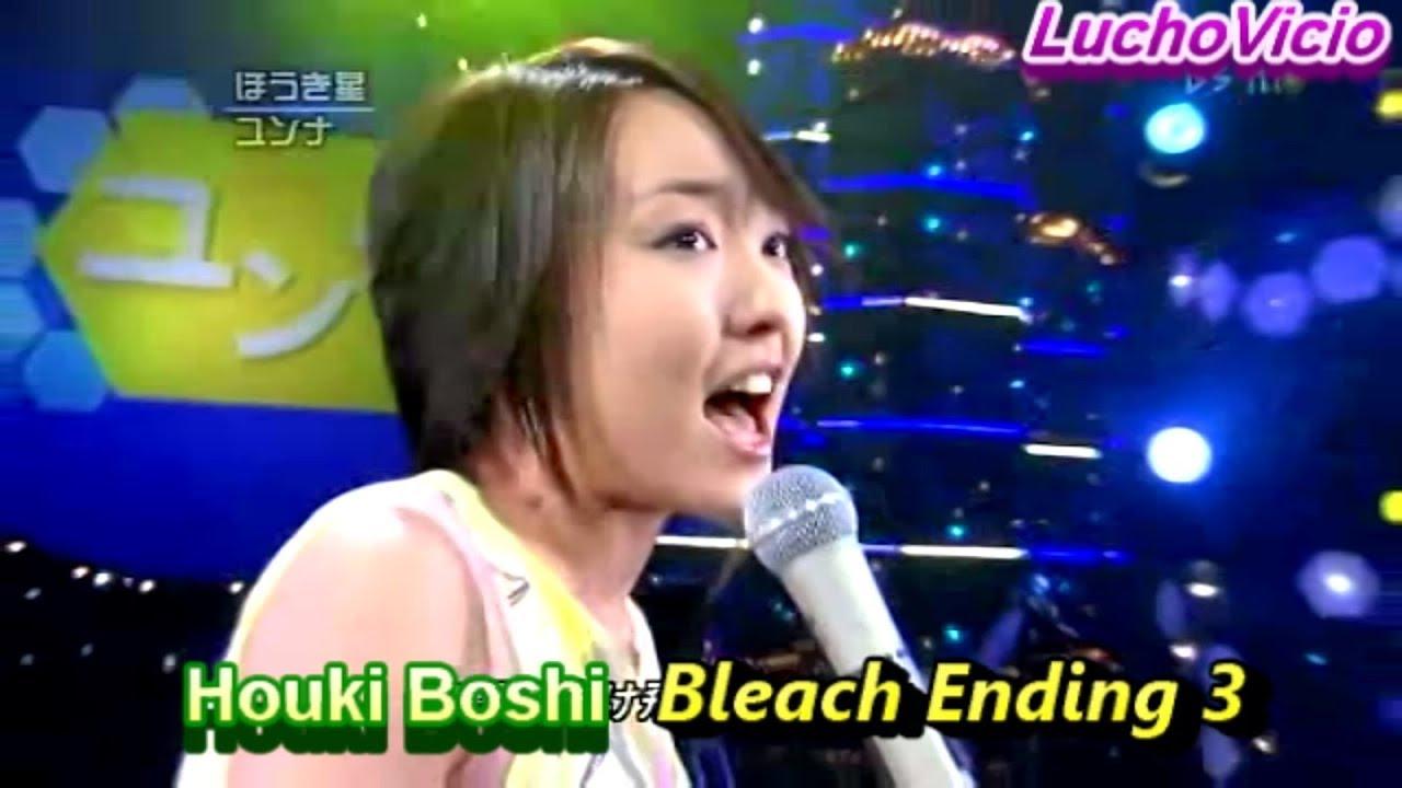 Download Younha  Houki Boshi  Bleach Ending 3 LIVE HD 1080p Remasterizado 050617
