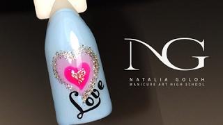 Красивый маникюр с сердцем: дизайн ногтей на 14 февраля / Valentine's Day Hearts Nails(Этот нежный розовый маникюр с сердечком можно выполнить даже в домашних условиях. Романтический простой..., 2017-02-03T15:40:58.000Z)