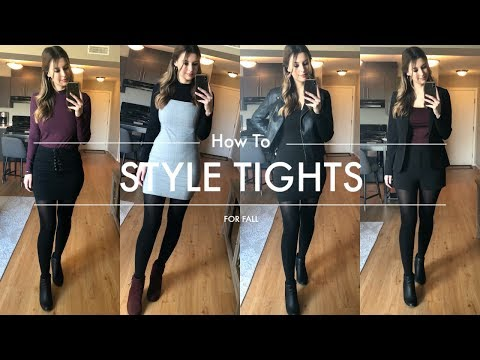 How To Style Tights For Fall