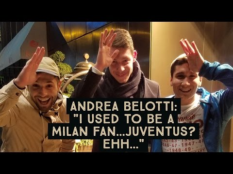 """Andrea Belotti: """"I used to be a Milan fan...Juventus? Ehh...""""    Meeting Il Gallo 🐓 in NYC"""
