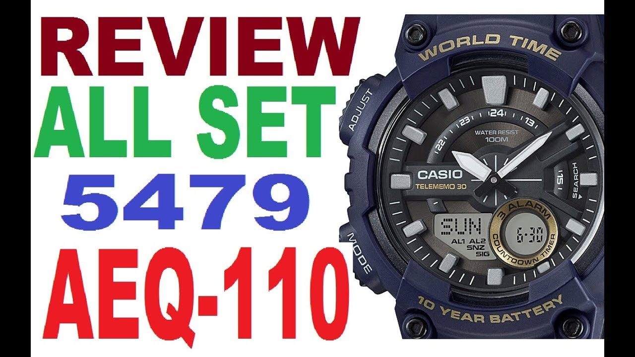 52d37371697 Review Casio AEQ-110W manual 5479 - YouTube