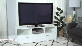 Finley Home Hudson White Low Profile TV Stand - Product Review Video