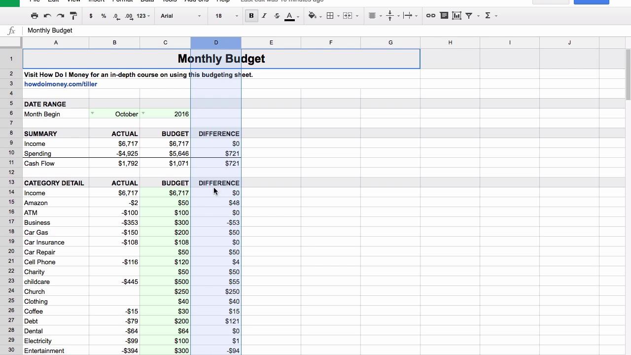 Get 30 Days Free At Tiller Money (Review) & Budget Smarter