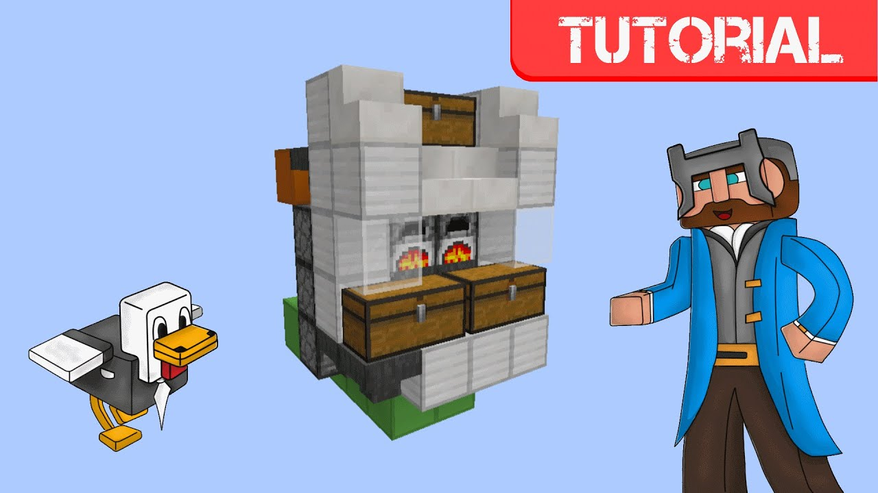 Minecraft 1.9 - Automatic Furnace - YouTube