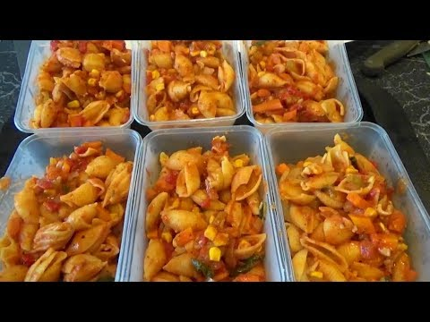 Easy Vegetarian Pasta | Large Family Healthy Budget Meal