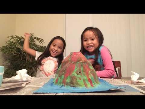 Paper Mache Volcano  Explosion