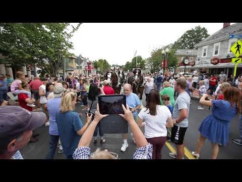 Budweiser Clydesdales parade through Pennsylvania towns