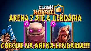 clash royale deck de golem pra arena 7 e chegar na arena lendria
