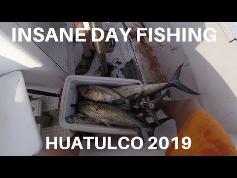 Huatulco Fishing INSANE DAY (BIG SPANISH MACKEREL) 2019