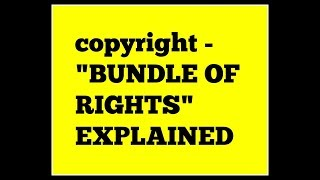 "Coptyright Holders ""Bundle of Rights"" explained by Attorney Steve"