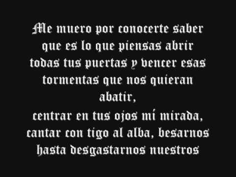 letra de alex ubago sin miedo a nada: