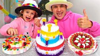 Pastel de cumpleaños para mamá - Canciones Infantiles | Maya y Mary