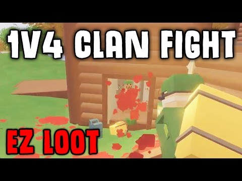 Unturned 1V4 VANILLA Clan Base Fight! - from Nothing to Military in minutes thumbnail