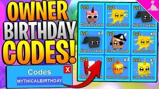 9 MYTHICAL ROBLOX MINING SIMULATOR OWNER BIRTHDAY CODES!