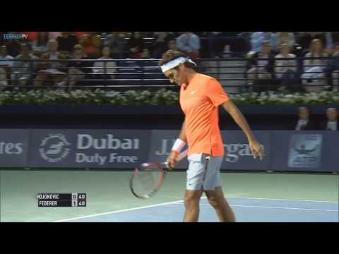 2015 ATP Dubai Final Highlights - Roger Federer v Novak Djokovic