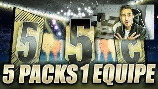 ON PACK UN JOUEUR DE FOU - 5 PACKS UNE EQUIPE !!! FIFA 18 CHALLENGE