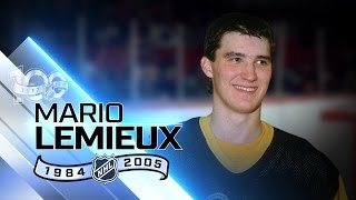 Mario Lemieux scored 100 points 10 different times