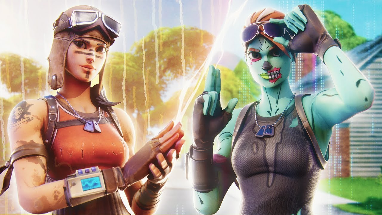 Renegade Raider Vs Ghoul Trooper Montage Youtube