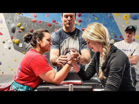 Pro Arm Wrestler Tries Rock Climbing | Devon Larratt