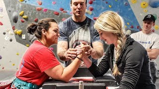 Pro Arm Wrestler Tries Rock Climbing | Devon Larratt