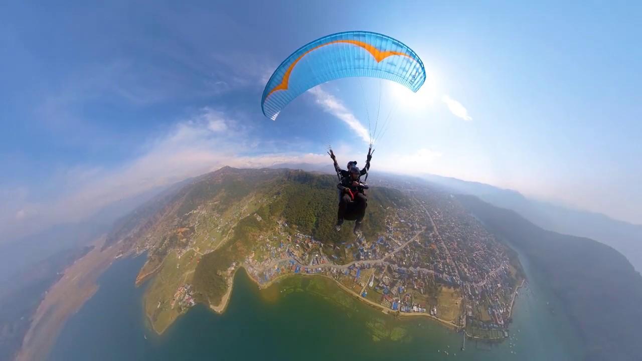 Nepal - Pokhara Paragliding || Insta360 One X
