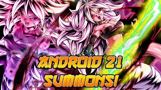 What ARE These SUMMONS?! Android 21 Summons! | Dragon Ball Legends