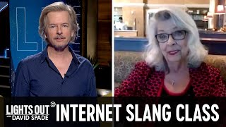 David Spade's Mom Learns Internet Slang - Lights Out with David Spade