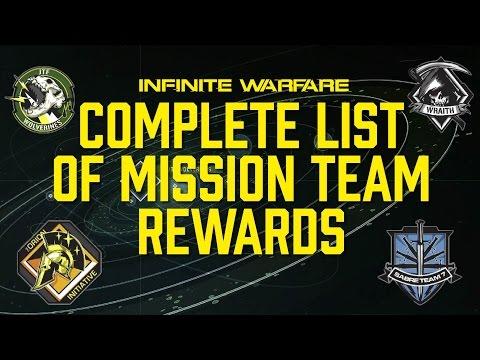 Mission Team Rewards - Complete List for Infinite Warfare