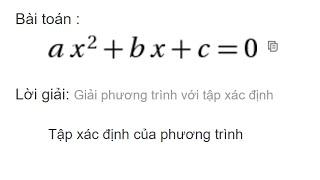 giải phương trình bậc hai trên mạng