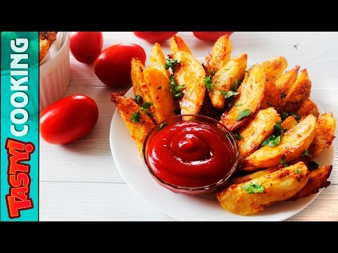 Baked Garlic Cheese Potato Wedges Recipe ♥ So Simple and So Yummm ♥ Tasty Cooking
