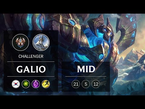 Galio Mid vs Ryze - KR Challenger Patch 9.1