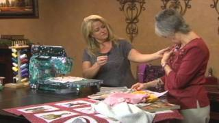 How To Free Motion Quilt & Embroider On Any Sewing Machine Sheryl Borden Creative Living Tv Show