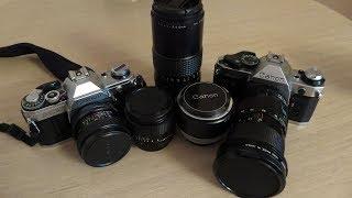 Порівняння Canon AE-1 Program та AE-1 + оптика